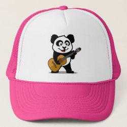 Trucker Hat with Guitar Panda design