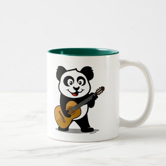 Guitar Panda Two-Tone Coffee Mug