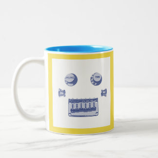 Guitar Parts Robot Face Two-Tone Coffee Mug