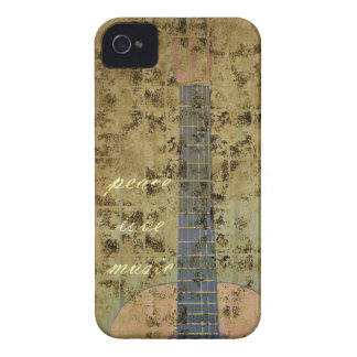 Guitar Peace Love Music iPhone 4 Case-Mate Cases