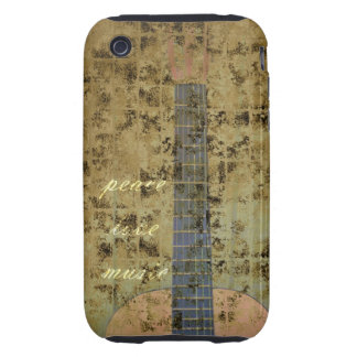 Guitar Peace Love Music Tough iPhone 3 Cover