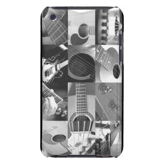 Guitar Photo Collage - black and white iPod Case-Mate Cases