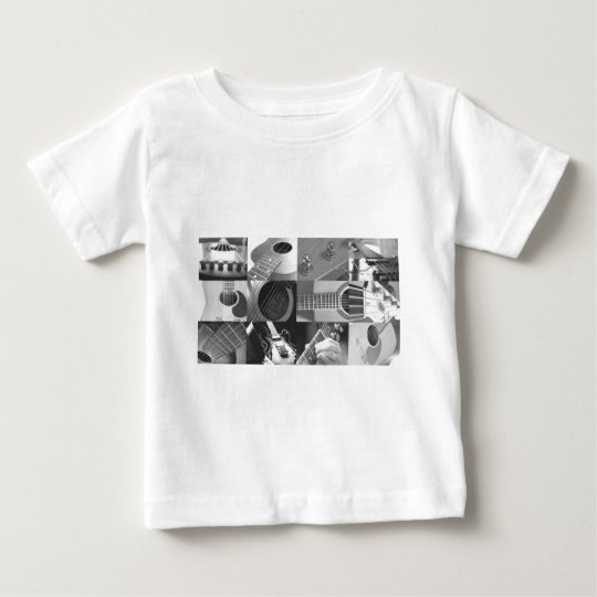 Guitar Photography Collage - black and white Baby T-Shirt
