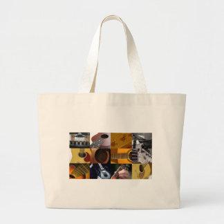 Guitar Photos Collage Canvas Bags