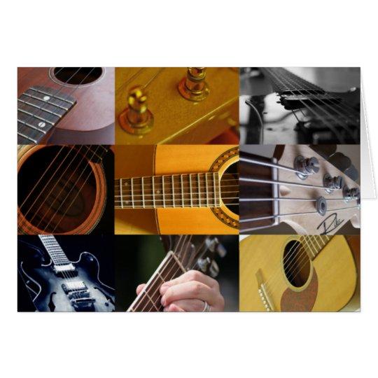 Guitar Photos Collage Card