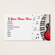 Guitar Piano Keyboard Music Notes Business Card at Zazzle