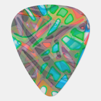 Guitar Pick Colorful Stained Glass