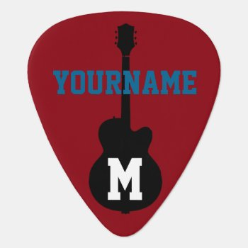 Guitar-pick For The Guitarman Guitar Pick by mixedworld at Zazzle