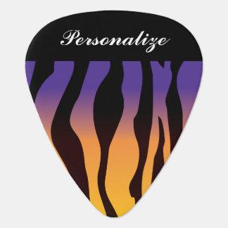 Guitar Pick- Personalize Colorful Zebra Stripes