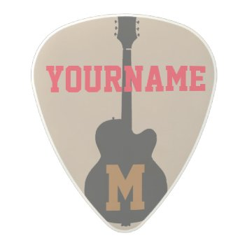 Guitar Pick Personalized With Name by mixedworld at Zazzle