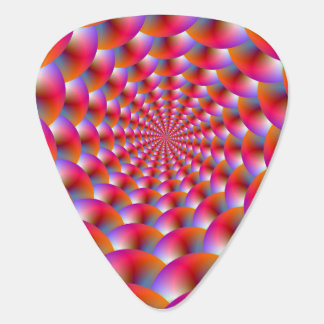 Guitar Pick  Spiral of Spheres in Pink and Violet