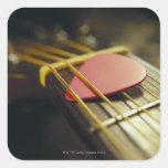 Guitar Pick Square Sticker