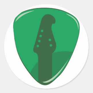 Guitar Pick Classic Round Sticker