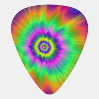 Guitar Pick  Tie Dye Fireball