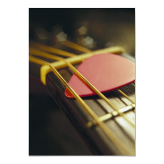 Guitar Pick Tucked in Strings Card