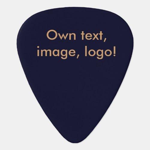 Guitar Pick uni Dark Blue