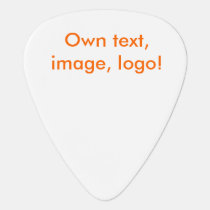 Guitar Pick uni White