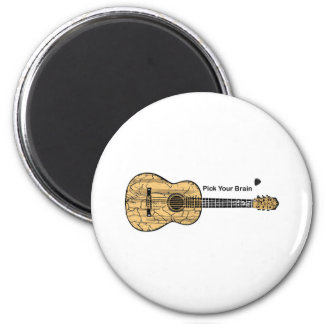 Guitar: Pick Your Brain 2 Inch Round Magnet