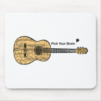 Guitar: Pick Your Brain Mouse Pad