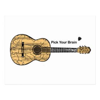Guitar: Pick Your Brain Postcard