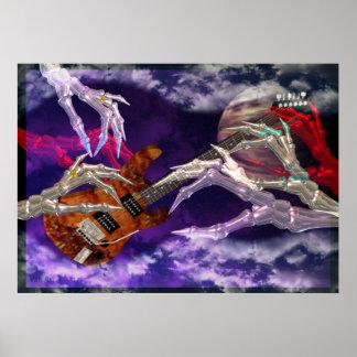 Guitar picking fingers print