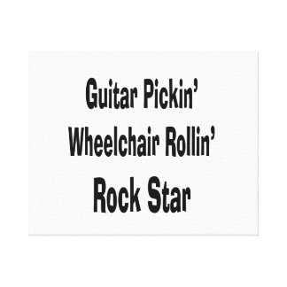 guitar picking wheelchair rolling rockstar bk canvas print