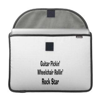 guitar picking wheelchair rolling rockstar bk MacBook pro sleeve