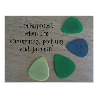 Guitar Picks, Strumming, Picking and Jammin' Poster