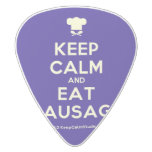[Chef hat] keep calm and eat sausage  Guitar Picks White Delrin Guitar Pick