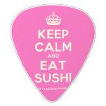 [Crown] keep calm and eat sushi  Guitar Picks White Delrin Guitar Pick