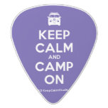 [Campervan] keep calm and camp on  Guitar Picks White Delrin Guitar Pick