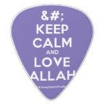 [No Crown] keep calm and love allah  Guitar Picks White Delrin Guitar Pick