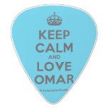 [Crown] keep calm and love omar  Guitar Picks White Delrin Guitar Pick