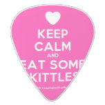 [Love heart] keep calm and eat some skittles!  Guitar Picks White Delrin Guitar Pick