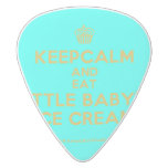 [Cupcake] keepcalm and eat little baby's ice cream  Guitar Picks White Delrin Guitar Pick