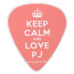 [Crown] keep calm and love pj  Guitar Picks White Delrin Guitar Pick