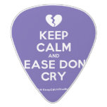 [Broken heart] keep calm and please don't cry  Guitar Picks White Delrin Guitar Pick
