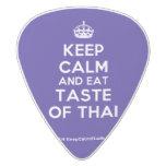 [Crown] keep calm and eat taste of thai  Guitar Picks White Delrin Guitar Pick