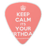 [Cupcake] keep calm its your birthday  Guitar Picks White Delrin Guitar Pick