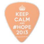[Crown] keep calm and #hope 2013  Guitar Picks White Delrin Guitar Pick