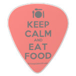 [Cutlery and plate] keep calm and eat food  Guitar Picks White Delrin Guitar Pick