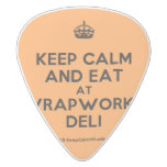 [Crown] keep calm and eat at wrapworks deli  Guitar Picks White Delrin Guitar Pick