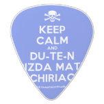 [Skull crossed bones] keep calm and du-te-n pizda matii chiriac  Guitar Picks White Delrin Guitar Pick
