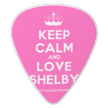 [Knitting crown] keep calm and love shelby  Guitar Picks White Delrin Guitar Pick