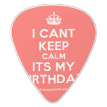 [Crown] i cant keep calm its my birthday  Guitar Picks White Delrin Guitar Pick