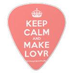 [Crown] keep calm and make lovr  Guitar Picks White Delrin Guitar Pick