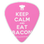 [Chef hat] keep calm and eat bacon  Guitar Picks White Delrin Guitar Pick