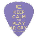 [Computer] keep calm and play far cry 3  Guitar Picks White Delrin Guitar Pick