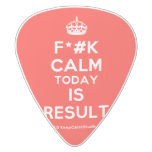 [Crown] f*#k calm today is result  Guitar Picks White Delrin Guitar Pick