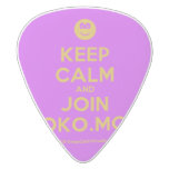 [Smile] keep calm and join moko.mobi  Guitar Picks White Delrin Guitar Pick